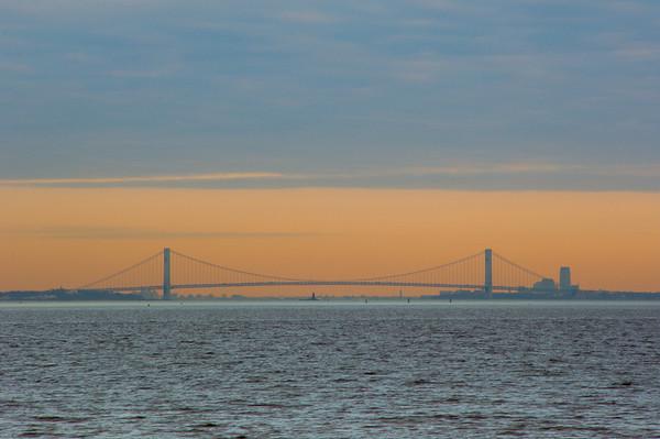 NYC Skyline and VZ Bridge