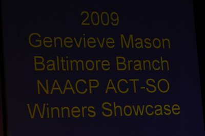 NAACP 2009 ACT-SO MD Gold Medalists