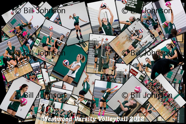 Westwood Volleyball Collages 2012