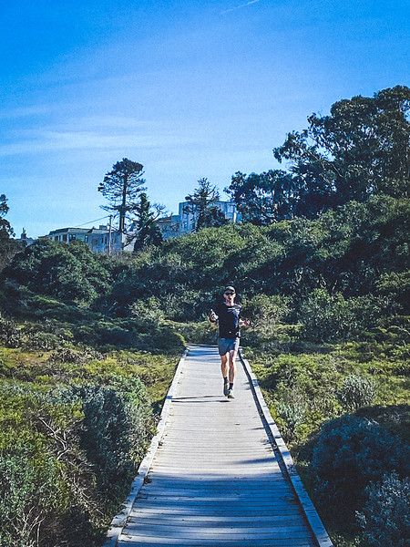 LIAM LONSDALE on the LOBOS VALLEY TRAIL boardwalk