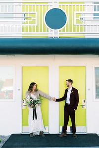 Ali + Marty - Neon Museum & desert elopement