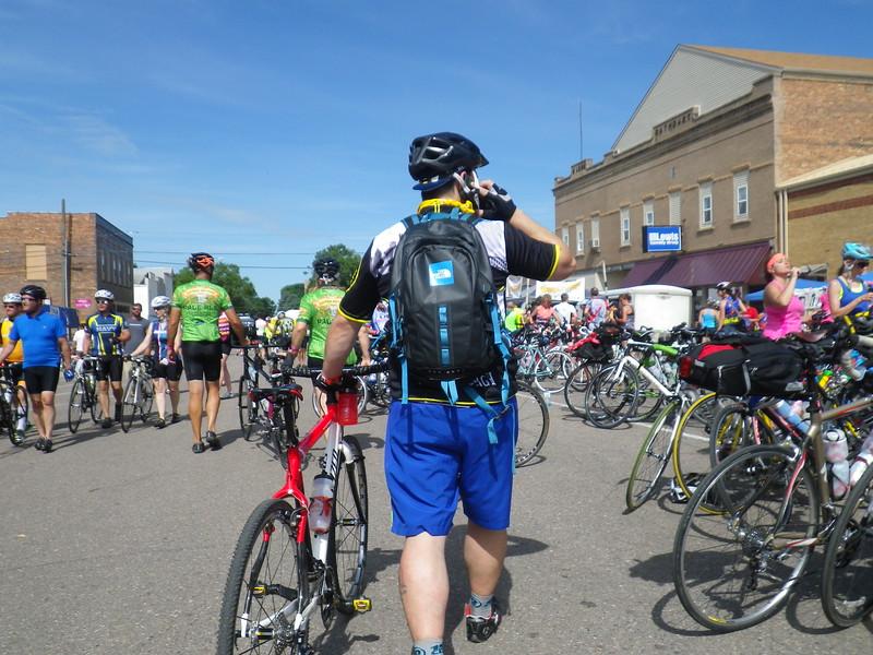 Bikes and bikers everywhere.