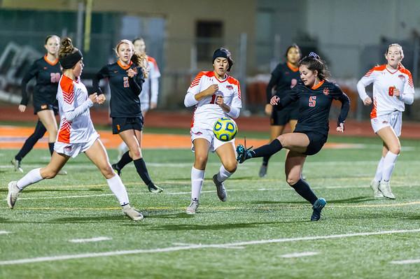 Roseville High School Varsity Girls Soccer vs Vacaville 12-6-18