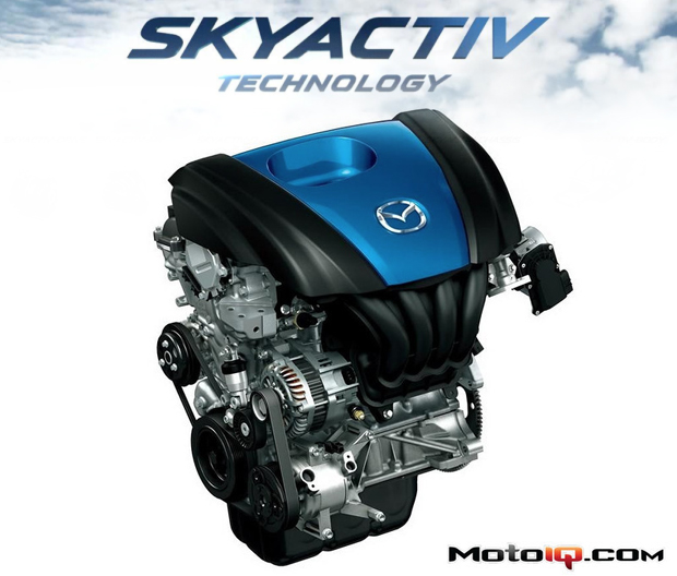 Mazda Skyactiv High Compressin direct injection engine