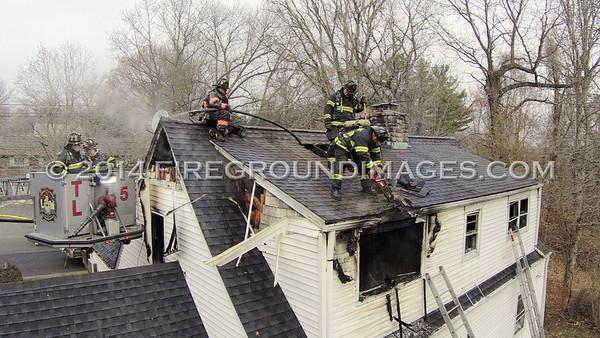 Old Town Rd. Fire (Bridgeport, CT) 12/5/14