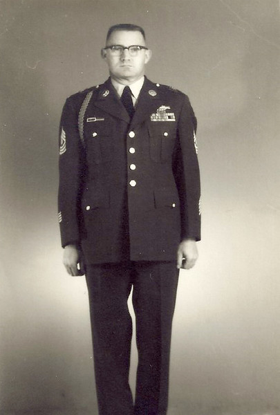 Leonard Charles Sechrist, master sergeant, father to Tina Bunn. Sechrist served in WWII and the Korean War and received a Bronze Star.