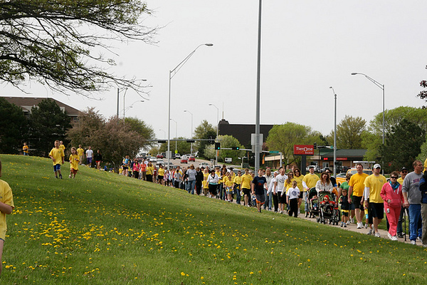More than 2,500 people contributed in the 2010 BackPack Extra Mile Walk, and many of them participated in the actual Walk