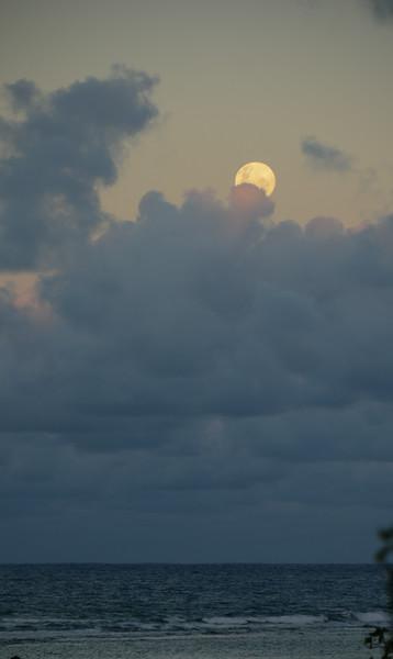 Full moon rising as the sun set...