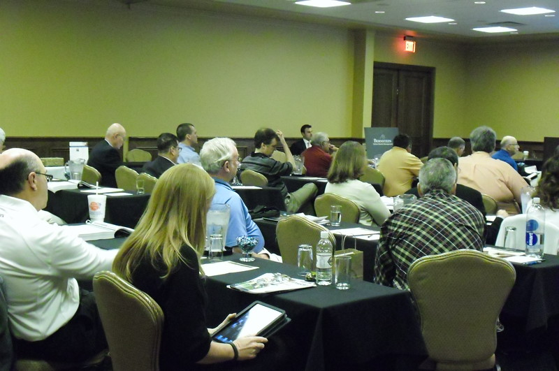 Attendees listening in to during Education sessions.