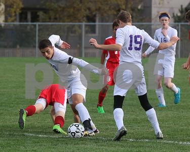 LHS Soccer vs. Fort Scott - playoffs