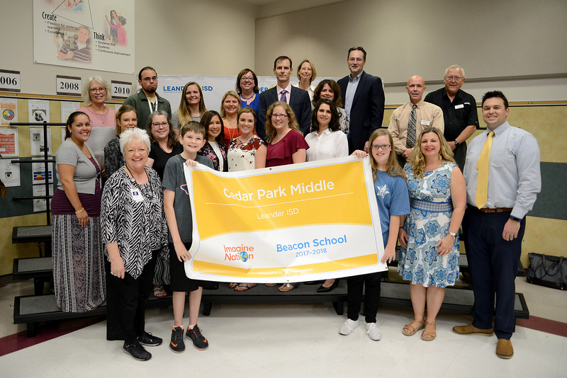 Cedar Park Middle School was named an Imagine Nation school.