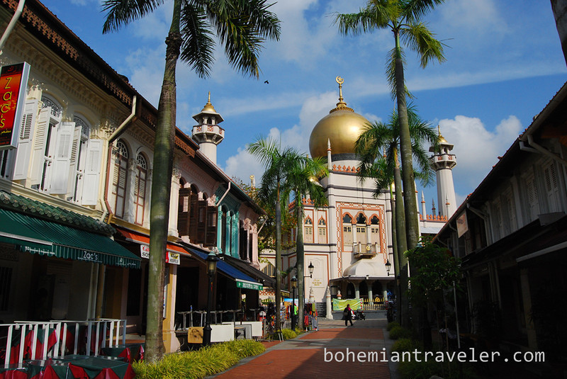 Sultan Mosque in Singapore's Kampong Glam district.
