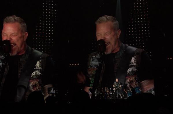 Larger than life, James Hetfield, frontman for Metallica performs Metallica classics as they headlined the second concert in US Bank Stadium on August 20, 2016 in Minneapolis, Minn. [ Special to Star Tribune, photo by Matt Blewett, Matte B Photography, matt@mattebphoto.com, Metallica, Avenged Sevenfold, Volbeat