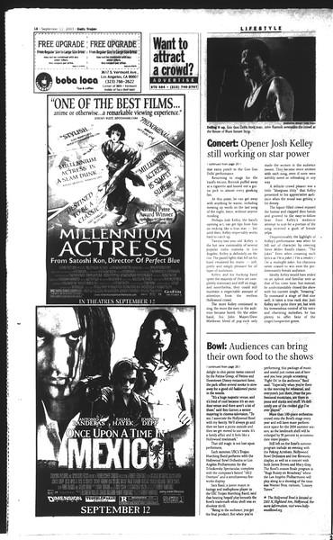 Daily Trojan, Vol. 150, No. 13, September 12, 2003