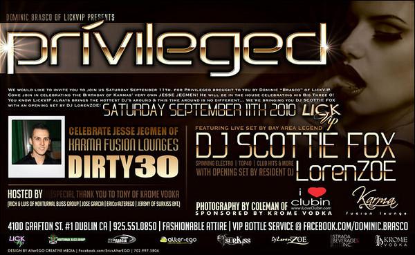 Brasco Presents Privileged @ Karma Fusion Lounge-Dublin 9.11.09