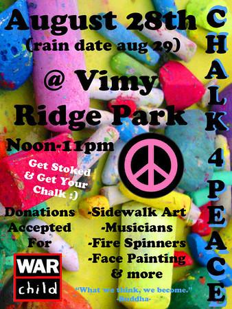 CHALK4PEACE Vimy Ridge Park, Winnipeg, Canada 8/28/10