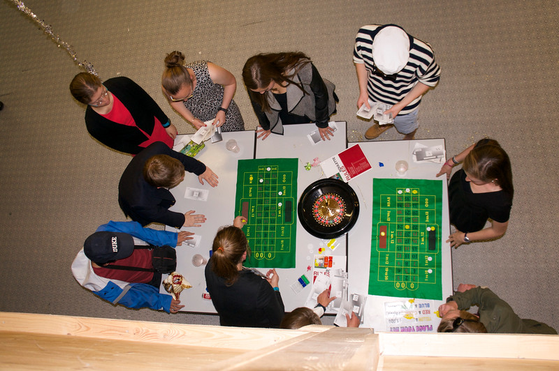 Another view of the Roulette Table (Ryan, Ben, Allison, Samantha, Catherine, Charlie, Kate, and Ms. Kupka)
