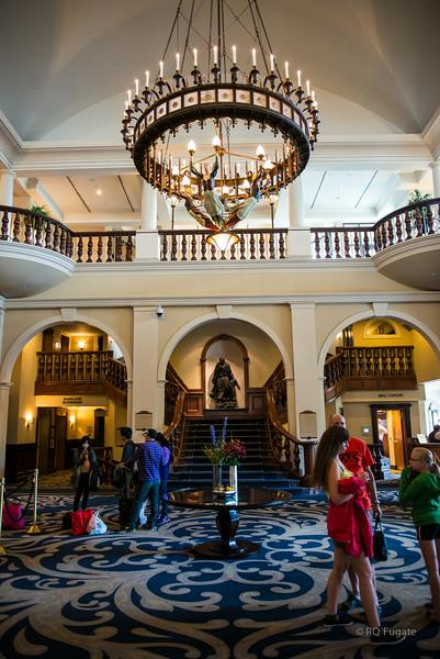 Lake Louise Fairmont Chateau Hotel lobby.