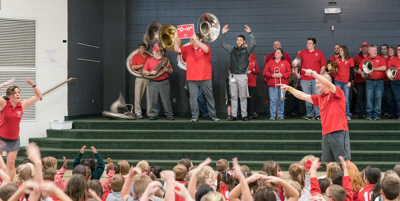 "Matt led the ""O-H"" part of the cheer..."