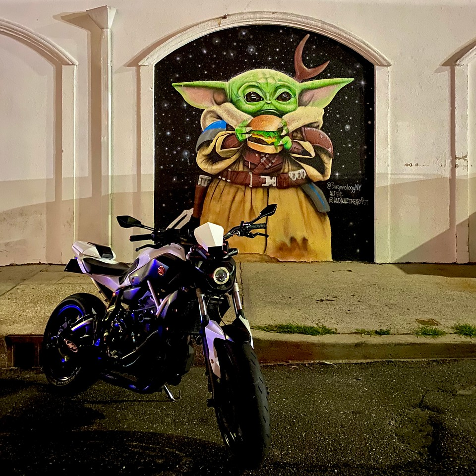 baby yoda burgerology yamaha fz07 in huntington