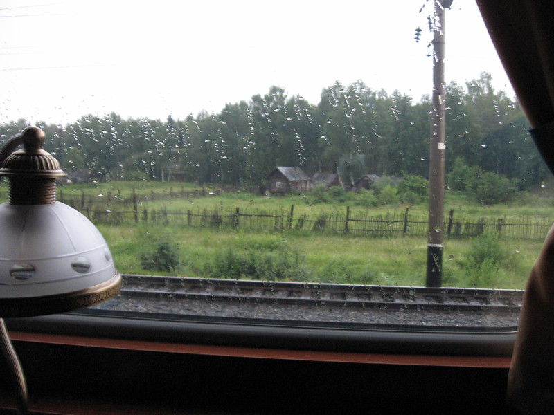 Rainy Siberian view from train - Leslie Rowley