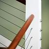 Deatil of a modern starcase banister