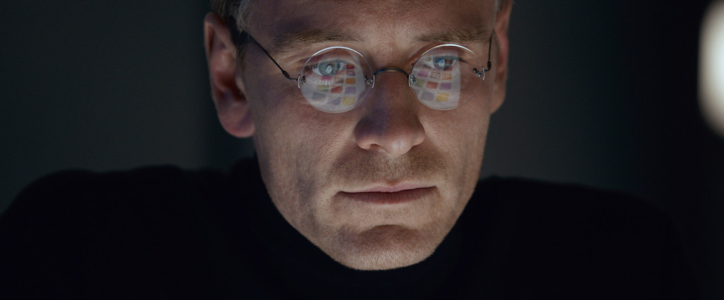 """. In this image released by Universal Pictures, Michael Fassbender stars as Steve Jobs in a scene from the film, \""""Steve Jobs.\"""" Fassbender was nominated for an Oscar for best actor on Thursday, Jan. 14, 2016, for his role in the film. The 88th annual Academy Awards will take place on Sunday, Feb. 28, at the Dolby Theatre in Los Angeles. (Universal Pictures via AP)"""