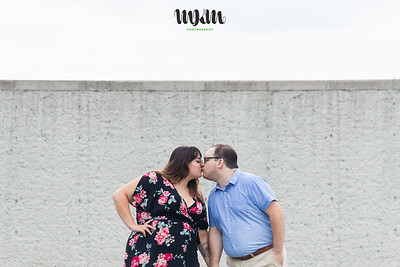 Mallory & Justin | A Fun, Movie-Themed, Rained On Engagement Session in Wake Forest