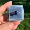 2.08ctw Sapphire and Diamond Ring, GIA No-Heat 13