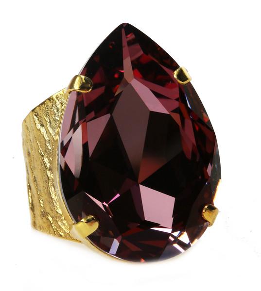 Perfect Drop Ring / Burgundy