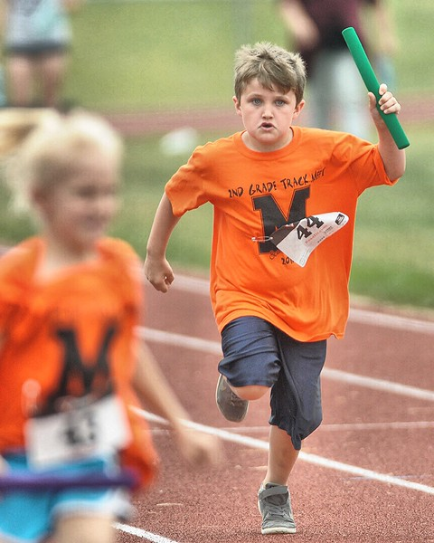 Second graders at Midlakes held their Annual Track Meet with students participating in seven different track and field events.