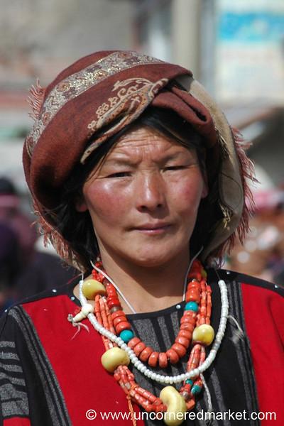 Tibetan Woman - Xiahe, China