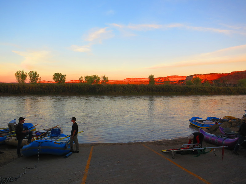 Sunset on the Colorado River.