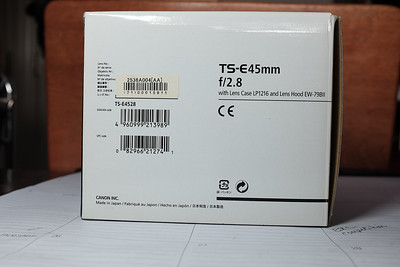 Canon TS-E 45mm f/2.8 MF Tilt Shift Lens