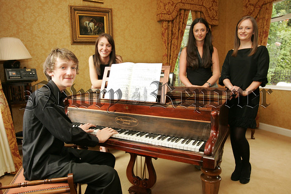 Pictured are Music students, Laura Cosgrove, Jane, Clare and Sean Rooney who will present a programme of contempoart and classical music for oboe, voice and piano in the Arts Centre on Tuesday 21sy August at 8:00pm in aid of Newry Hospice. 07W32N16