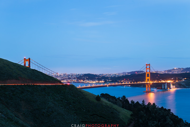 Golden Gate Bridge, nighttime 4