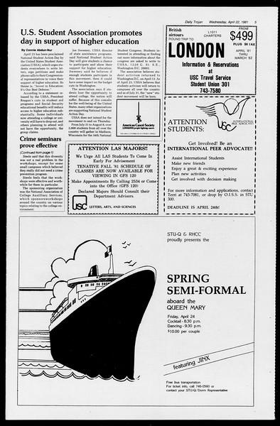 Daily Trojan, Vol. 90, No. 46, April 22, 1981