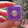 2.85ct Antique Cushion Cut Diamond Halo Ring 53