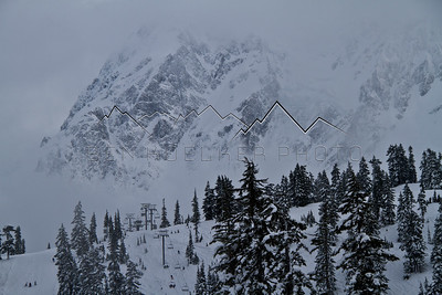 Mt. Shuksan, WA as seen from Mt. Baker Ski Area