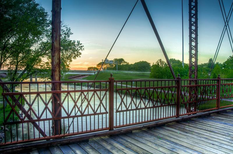 Rusty Bridge Railings