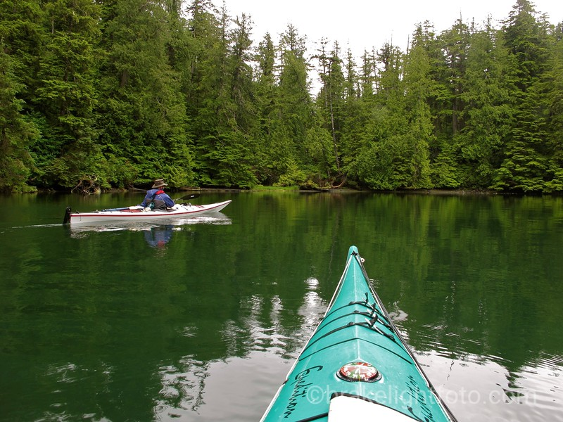 Approaching landing for Nootka Island Trail in the Starfish Lagoon
