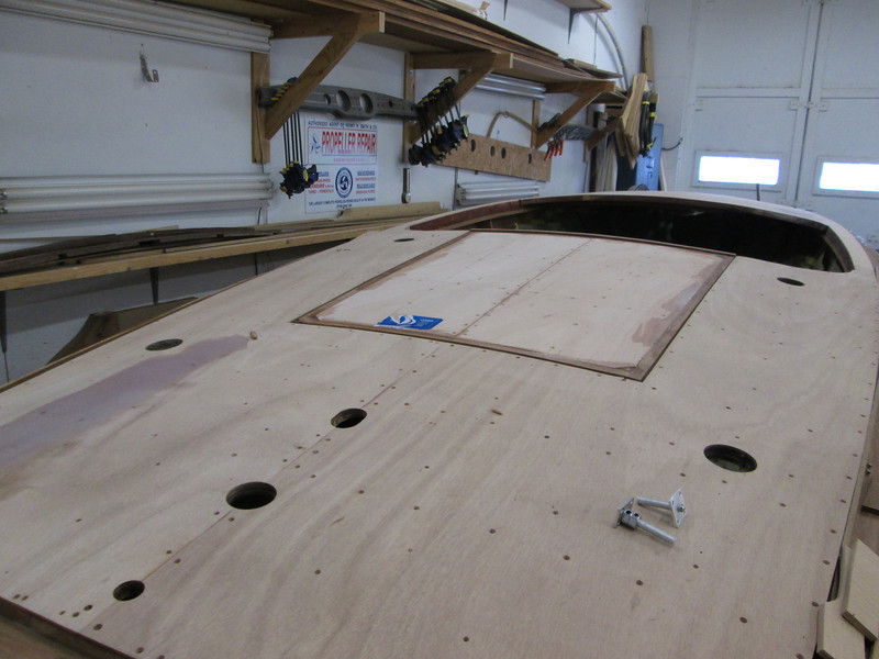Engine hatch cover complete ready for sanding.