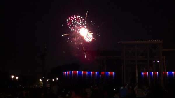Fourth of July fireworks at RiverEdge Park in Aurora, Ill 7-4-13