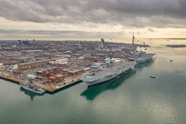Aircraft Carriers alongside HMNB Portsmouth