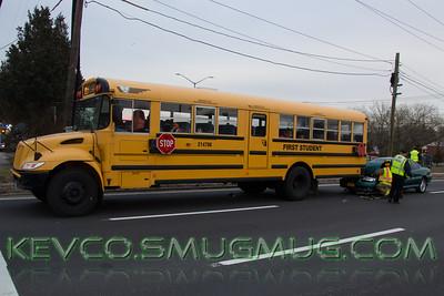 1.14.15 School Bus MVA Wm Floyd Parkway @ Northern Blvd, LIRR Crossing