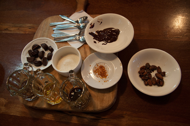 Some of the finished products to taste after the tour.