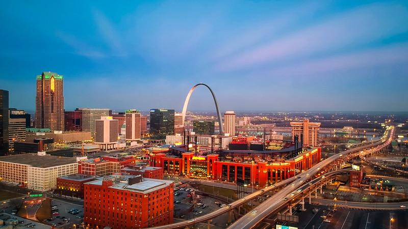 Saint Louis Skyline Aerial