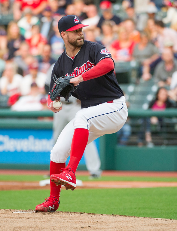 . Cleveland Indians starting pitcher Corey Kluber delivers against against the Chicago White Sox during a baseball game in Cleveland, Friday, June 9, 2017. (AP Photo/Phil Long)