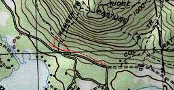 East end of Undercut/Ramsey Trails (December 1)