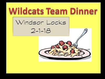 2018_02_01 Wildcats Team Dinner in Windsor Locks